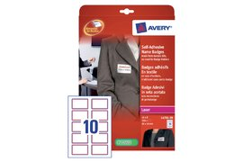 BADGE AVERY L4786-20 80X50MM 200ST ROOD KADER